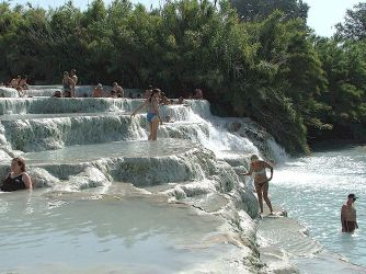 Saturnia spa and hot pools